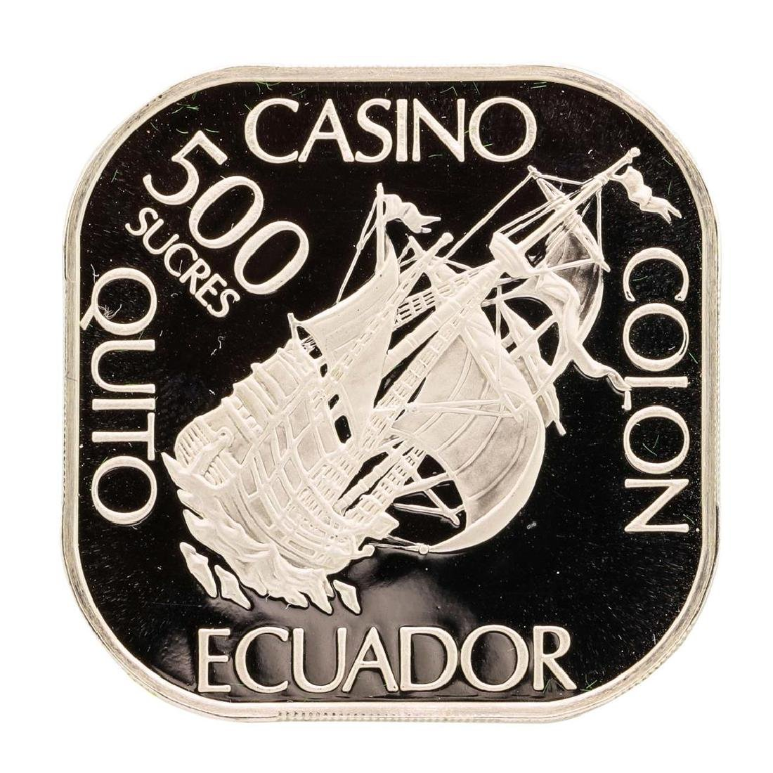Casino Colon Quito Ecuador 21 gram .925 Sterling Silver - 2