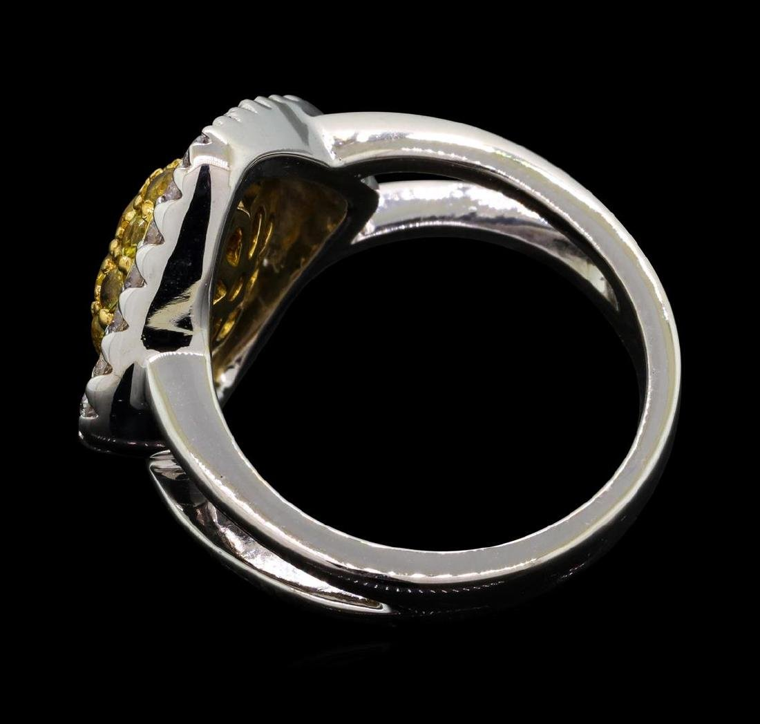 14KT Two Tone Gold 0.52 ctw Yellow Sapphire and Diamond - 3