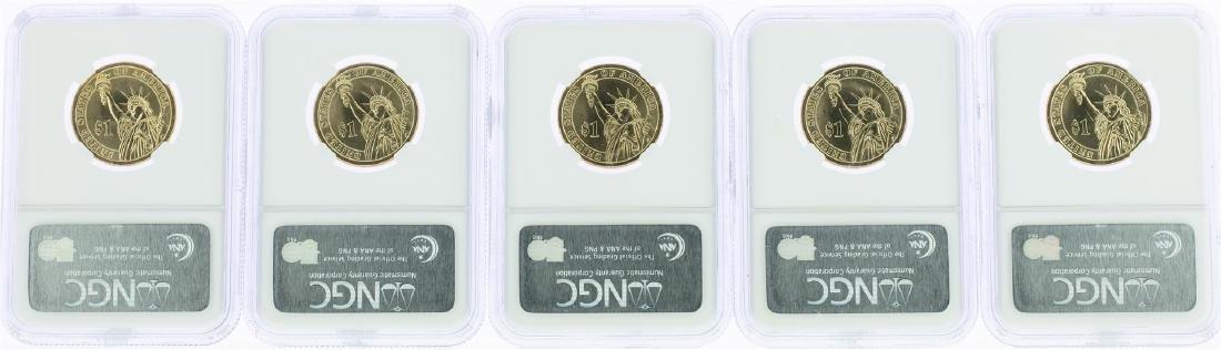 Lot of (5) 2007-P George Washington Presidential Dollar - 2