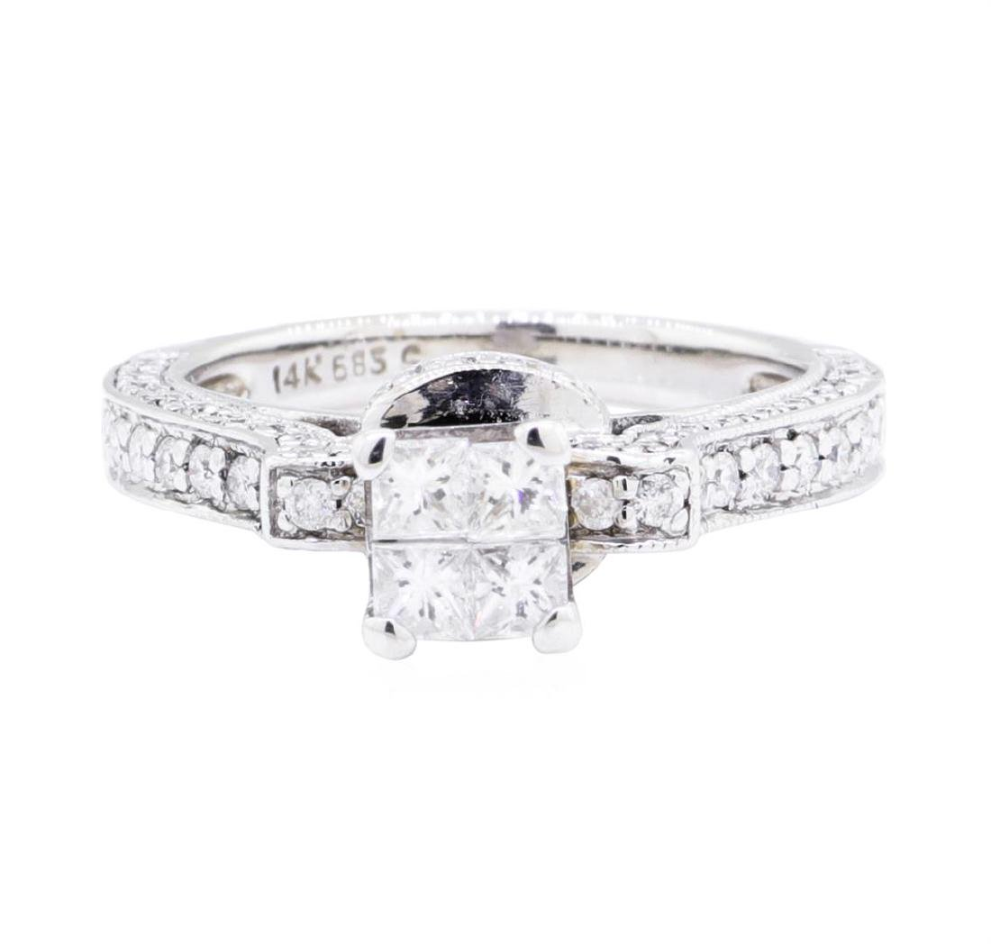 14KT White Gold 0.60 ctw Diamond Ring - 2