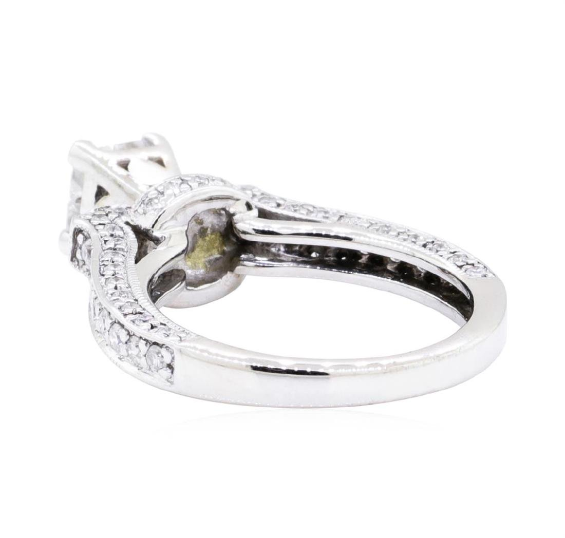 14KT White Gold 0.60 ctw Diamond Ring - 3