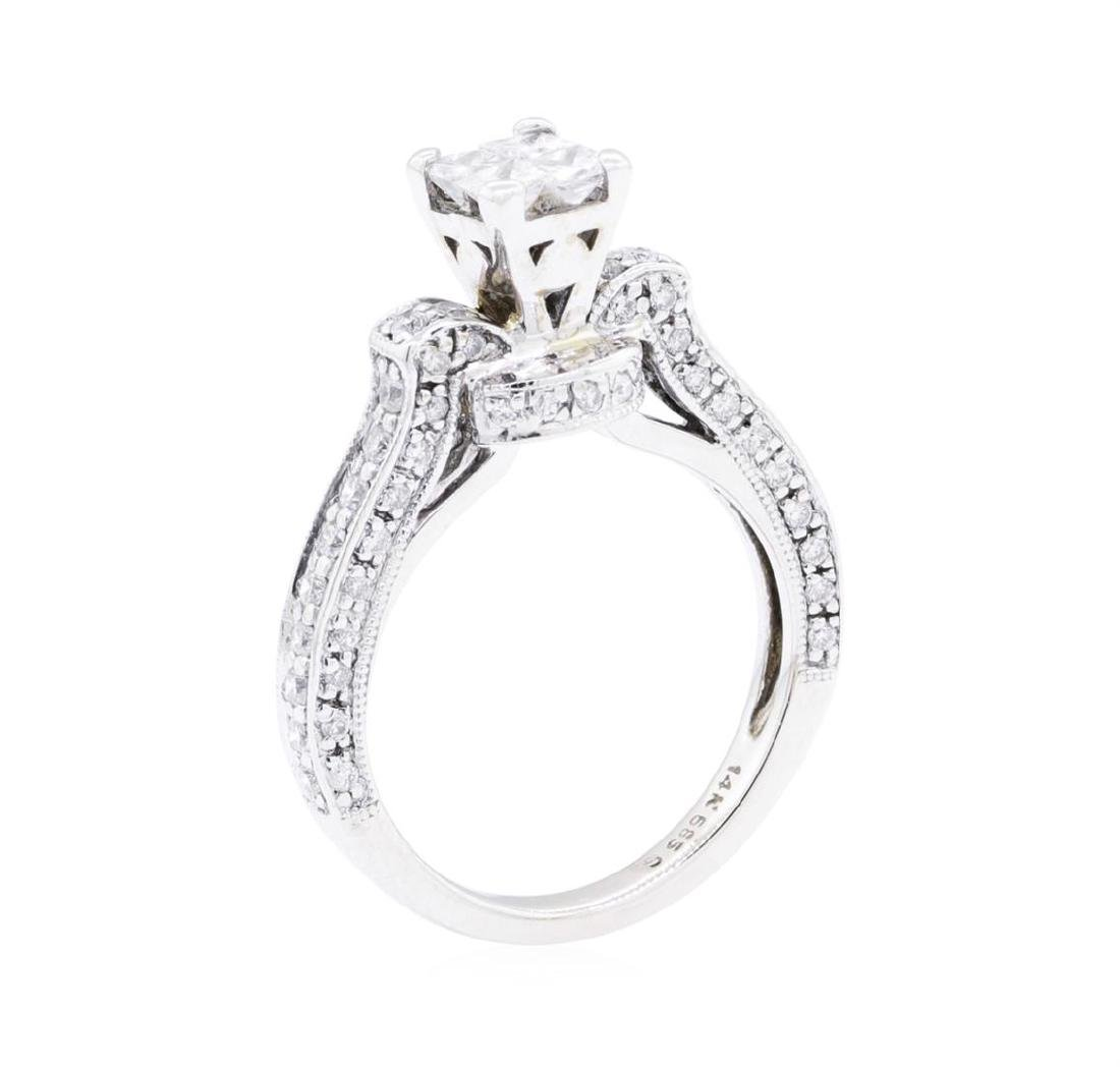 14KT White Gold 0.60 ctw Diamond Ring - 4