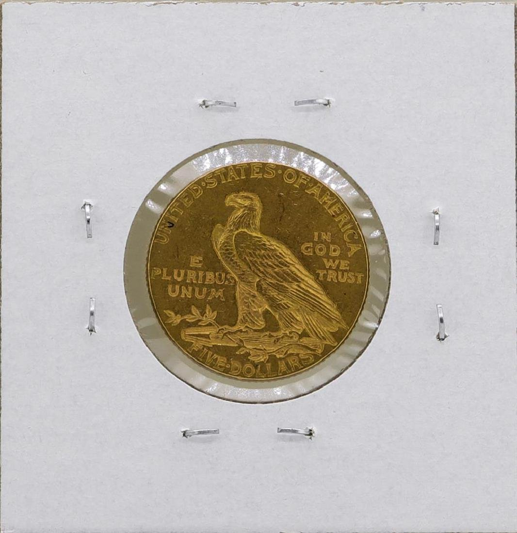 1912 $5 Indian Head Half Eagle Gold Coin - 2