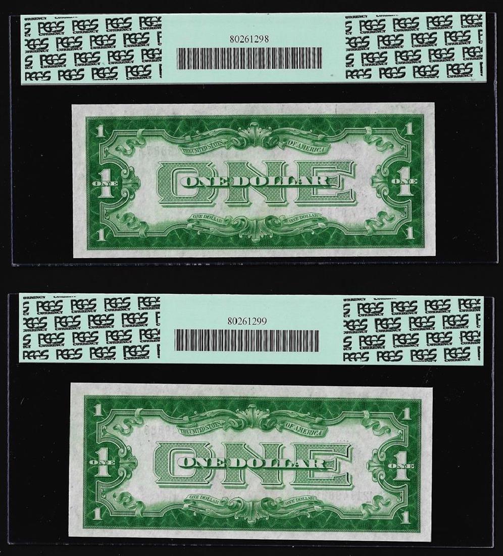 (2) Consecutive 1928A $1 Funnyback Silver Certificate - 2