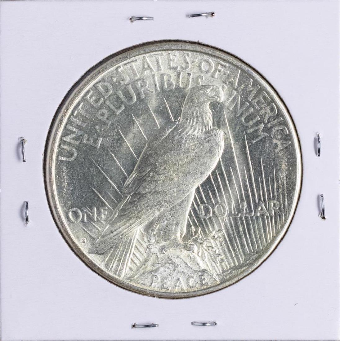 1922-S $1 Peace Silver Dollar Coin - 2