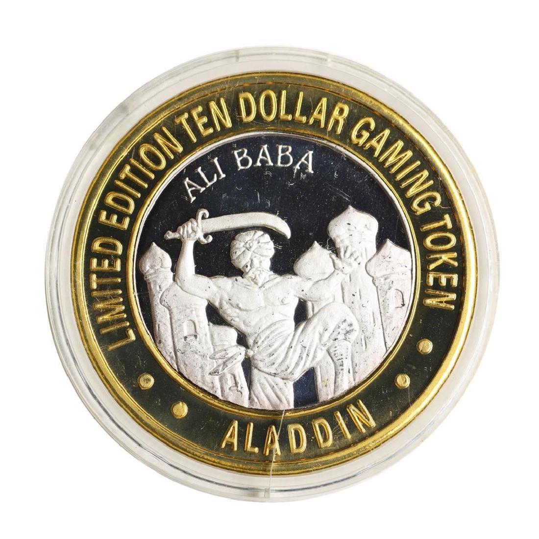 .999 Silver Aladdin Resort Casino $10 Casino Limited