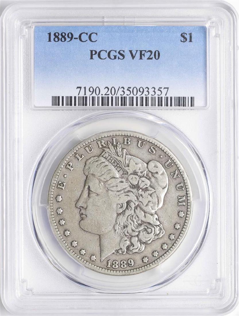1889-CC $1 Morgan Silver Dollar Coin PCGS VF20