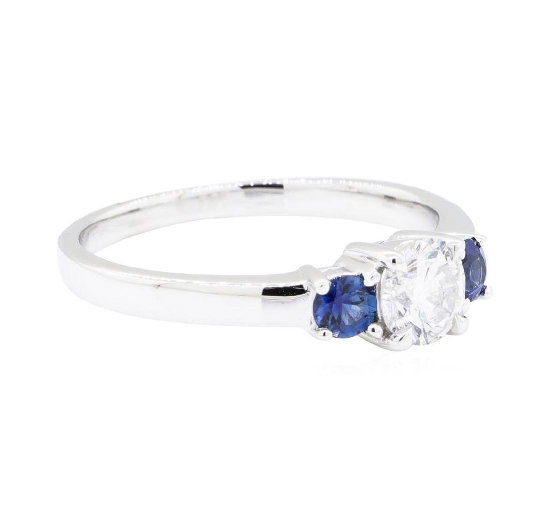 14KT White Gold 0.32 ctw Sapphire and Diamond Ring