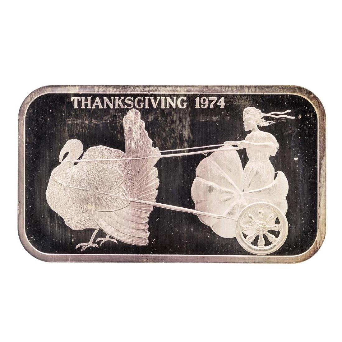 1974 Thanksgiving Madison Mint 1 oz .999 Fine Silver
