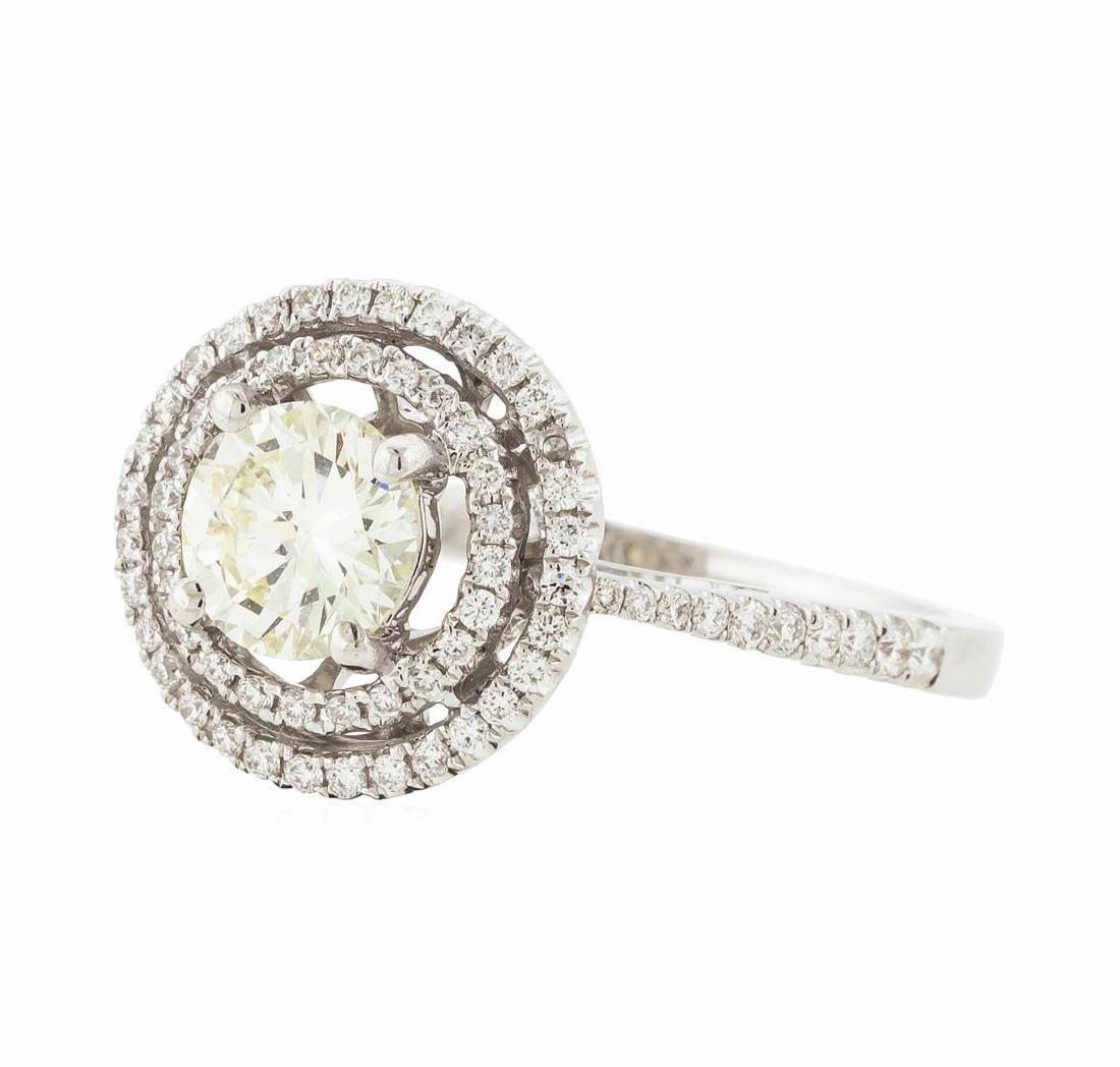 18KT White Gold 1.12 ctw Diamond Ring - 2
