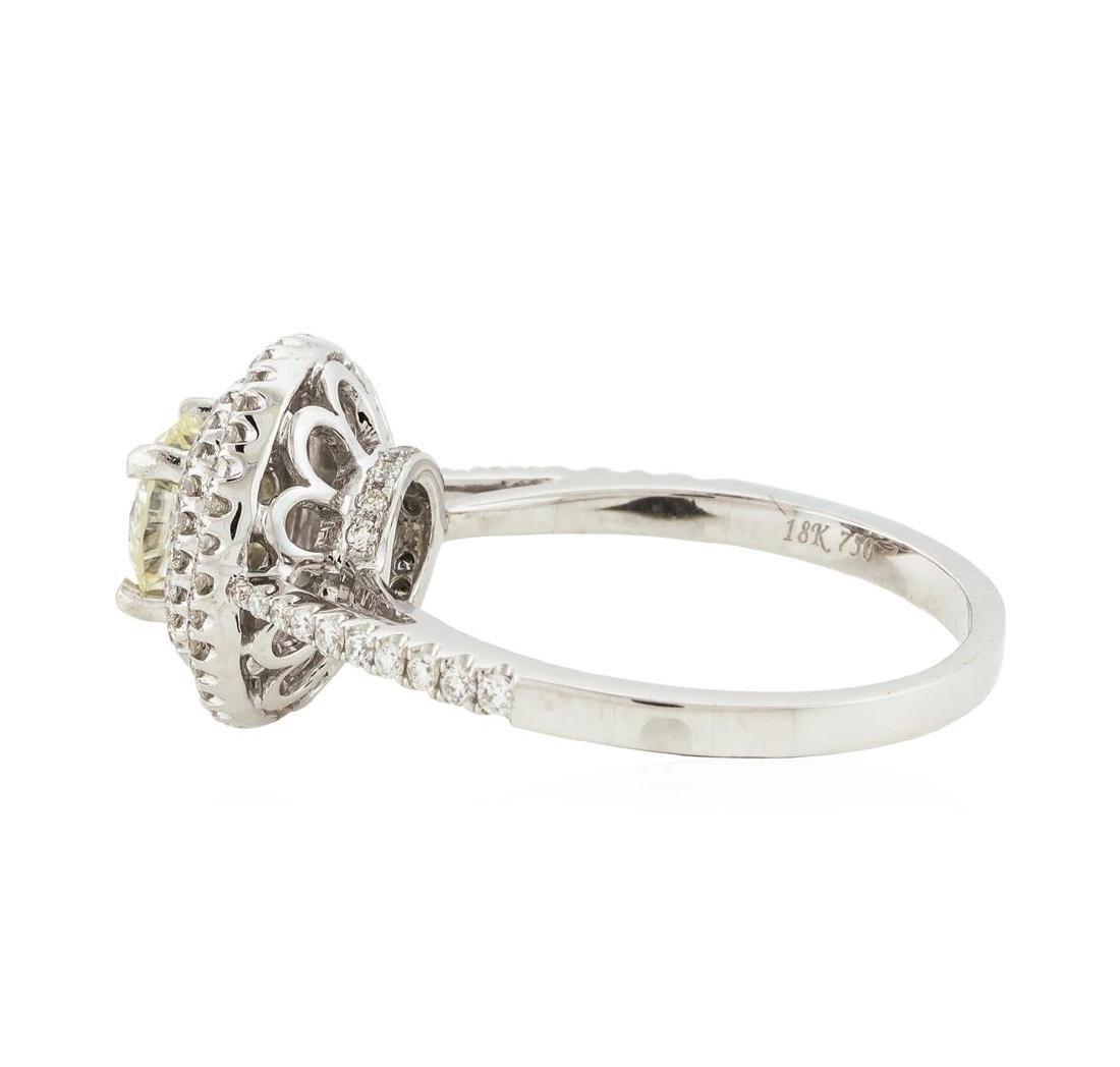18KT White Gold 1.12 ctw Diamond Ring - 3