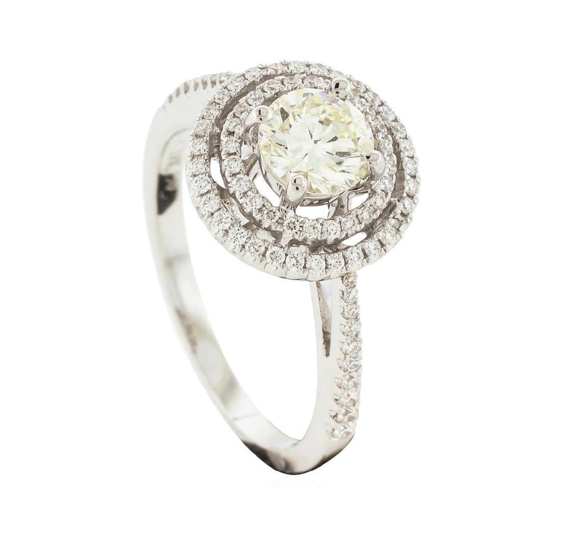 18KT White Gold 1.12 ctw Diamond Ring - 4
