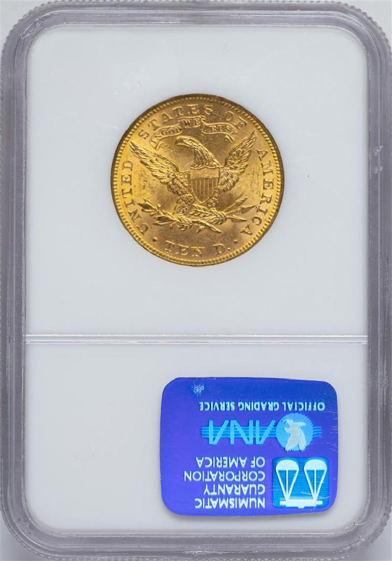 1893 $10 Liberty Head Eagle Gold Coin NGC MS62 - 2