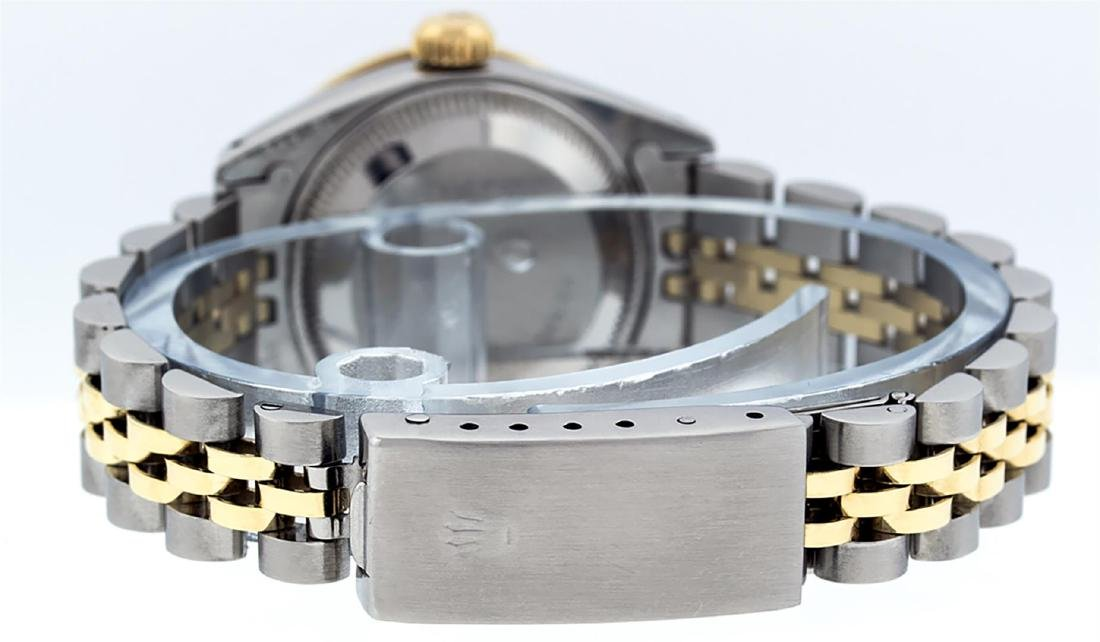 Rolex Ladies Two Tone 14K MOP Diamond Lugs Datejust - 8