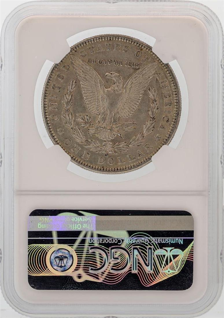 1888-S $1 Morgan Silver Dollar Coin NGC AU53 - 2