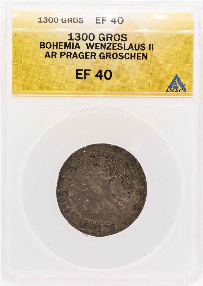 1300 Bohemia Wenzeslaus II AR Prager Groschen ANACS