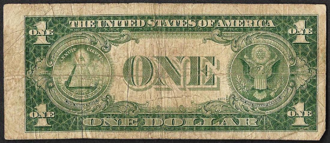 1935C $1 Silver Certificate Note FANCY Serial Number - 2