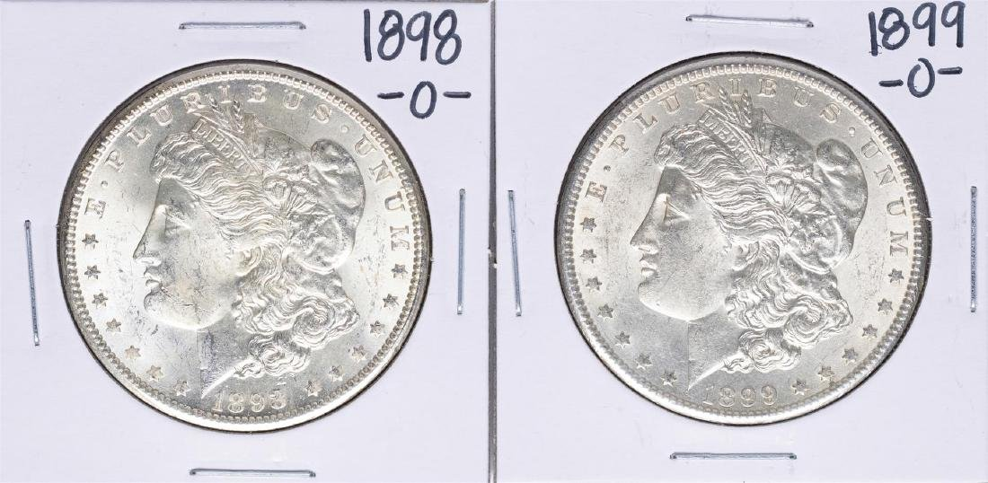 Lot of 1898-O to 1899-O $1 Morgan Silver Dollar Coins