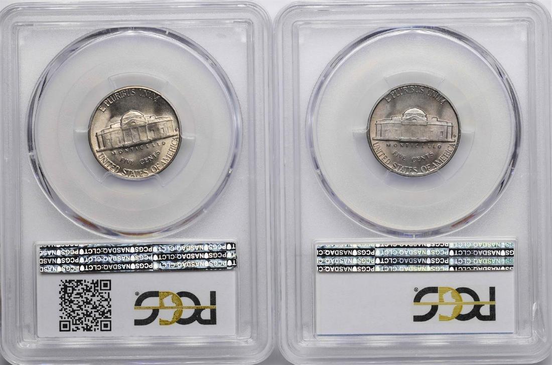 Lot of 1949-D & 1950-D Jefferson Nickel Coins PCGS MS66 - 2