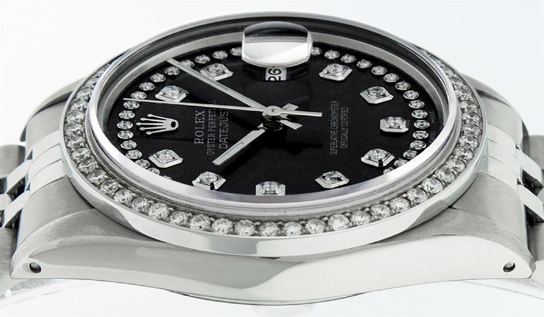 Rolex Men's Stainless Steel Black String Diamond 36MM - 5