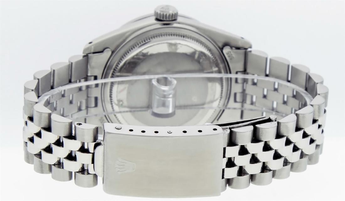 Rolex Men's Stainless Steel Black String Diamond 36MM - 8