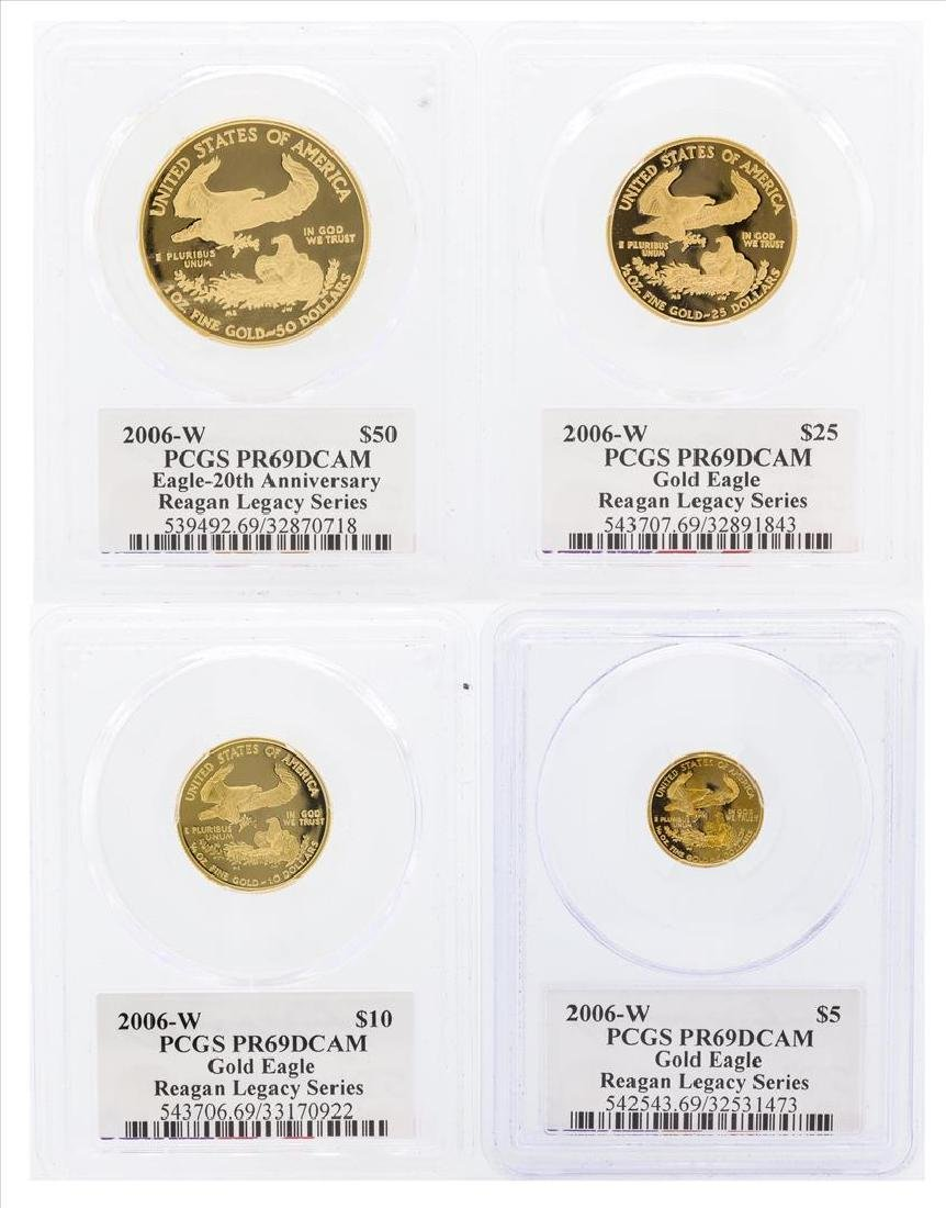 Set of (4) 2006-W 20th Anniversary American Gold Eagle - 2