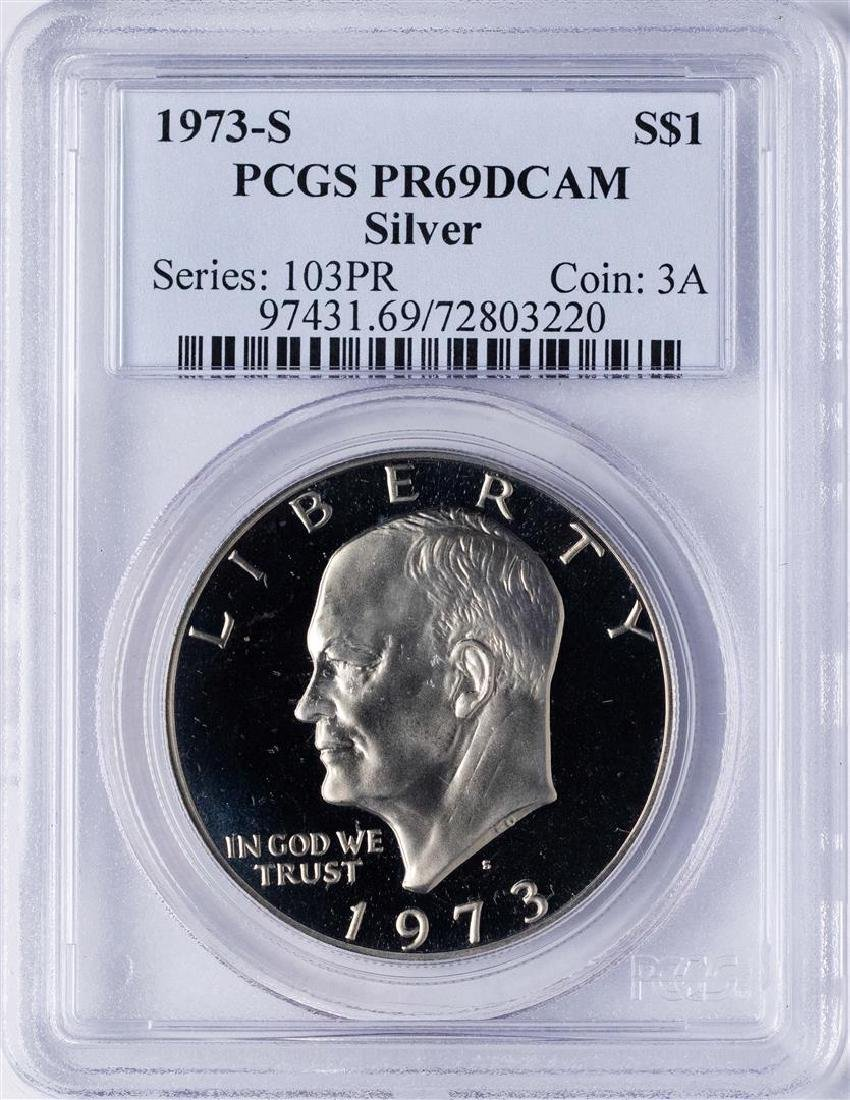 1973-S $1 Ike Eisenhower Proof Silver Dollar Coin PCGS