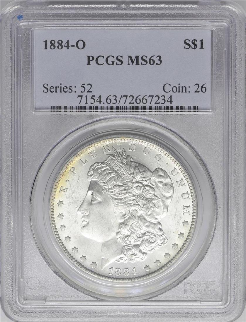 1884-O $1 Morgan Silver Dollar Coin PCGS MS63 Amazing