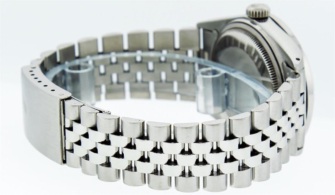 Rolex Men's Stainless Steel 36MM Slate Grey Diamond - 4