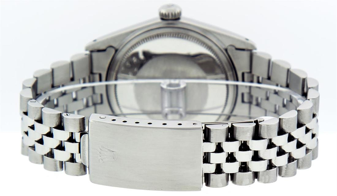 Rolex Men's Stainless Steel 36MM Slate Grey Diamond - 5