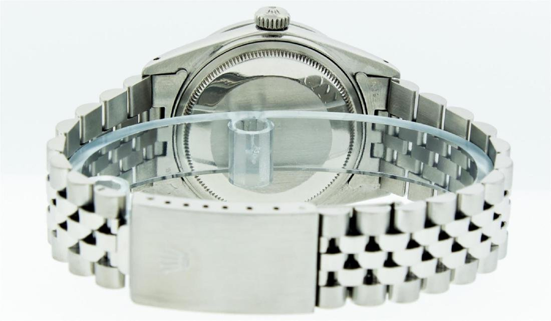 Rolex Men's Stainless Steel 36MM Slate Grey Diamond - 6