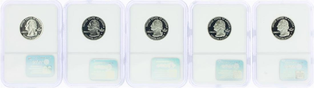 Lot of (5) 2002-S State Quarter Silver Coins NGC PF69 - 2