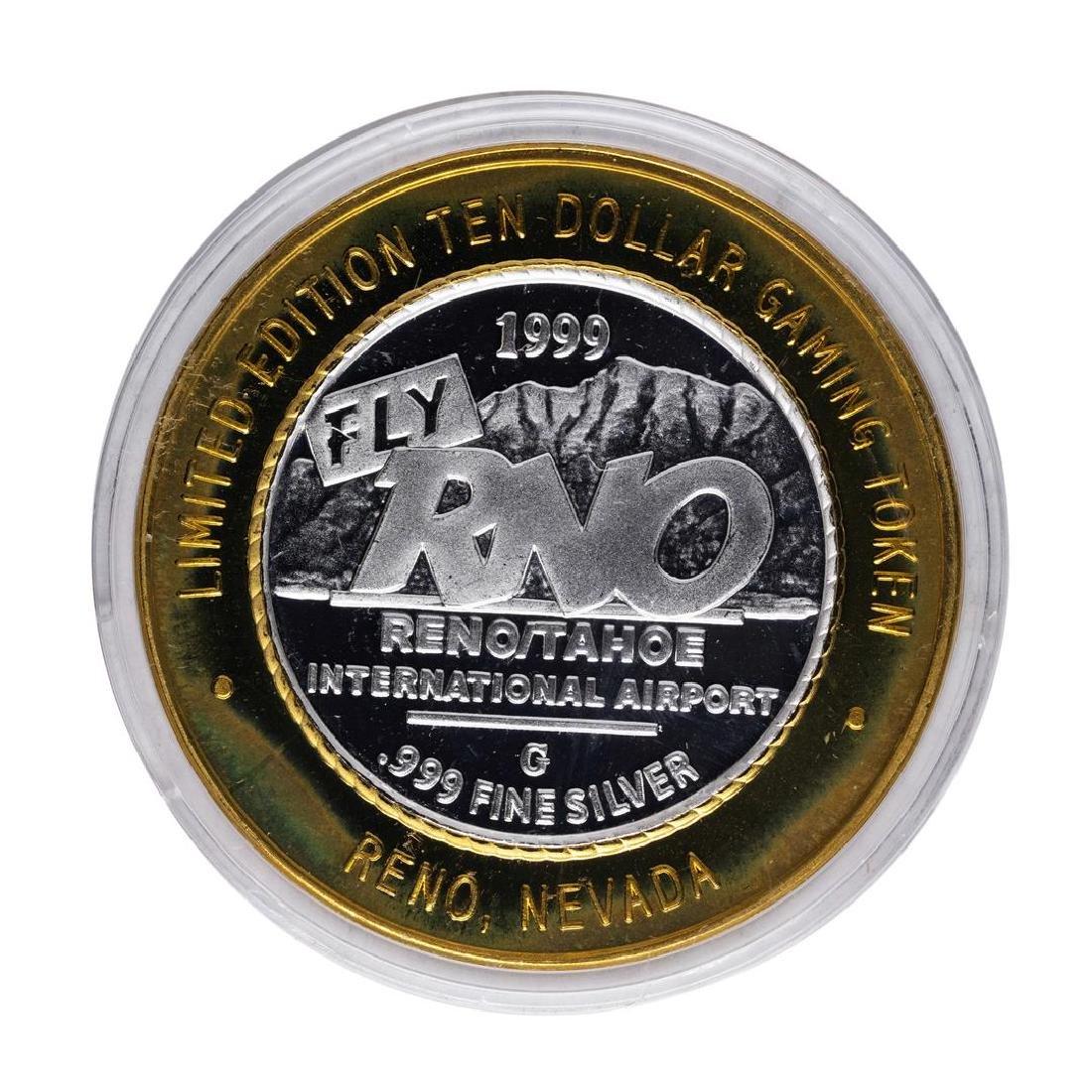.999 Silver Fly RNO Reno Tahoe $10 Casino Limited