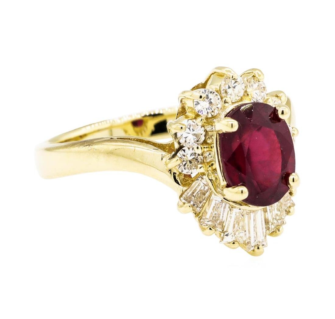 14KT Yellow Gold 1.86 ctw Ruby and Diamond Ring