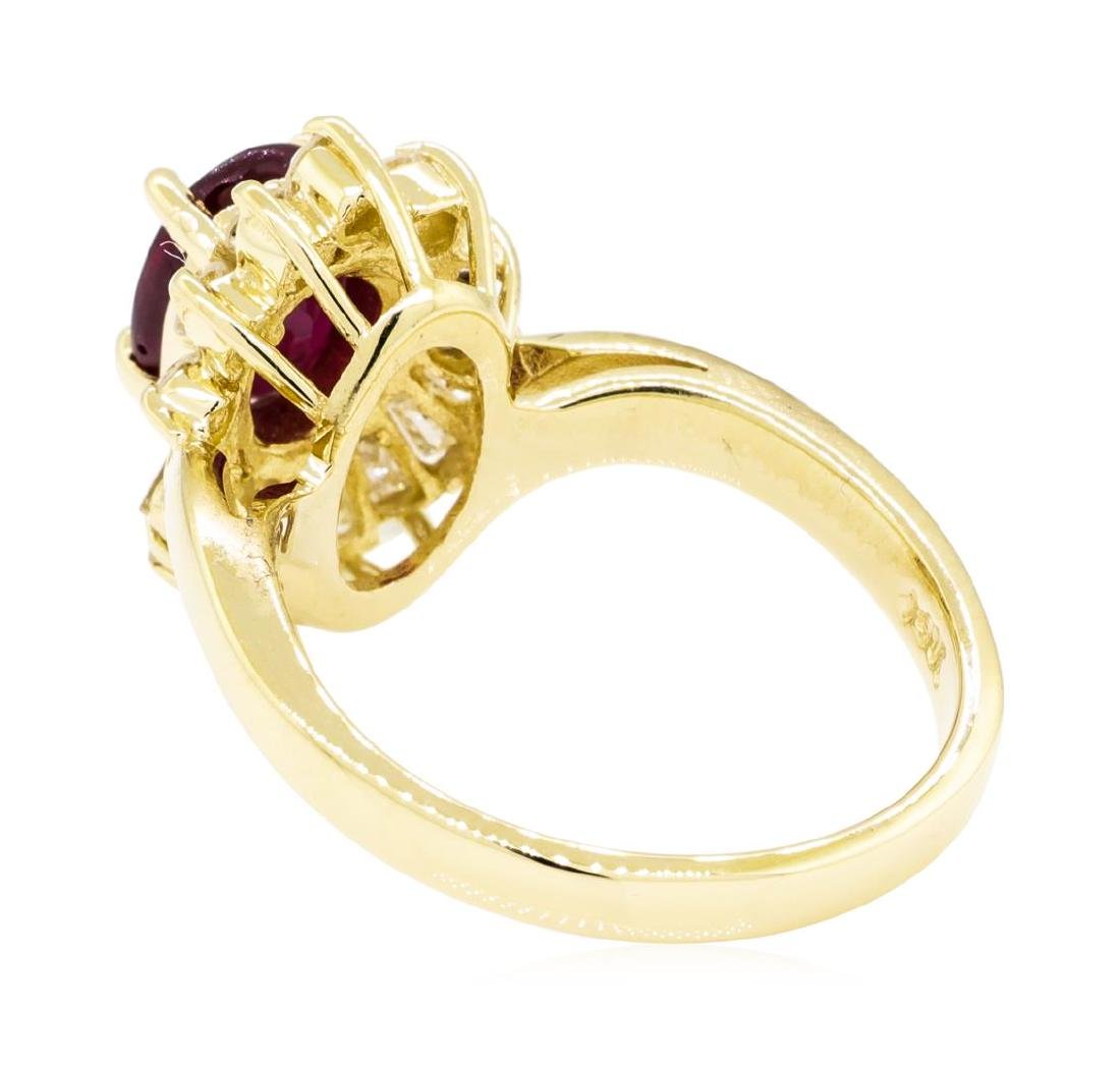 14KT Yellow Gold 1.86 ctw Ruby and Diamond Ring - 3