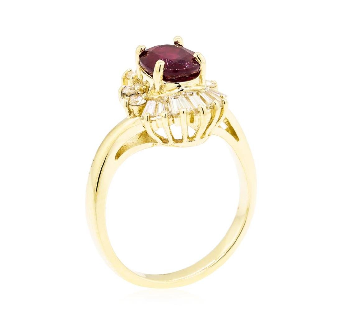 14KT Yellow Gold 1.86 ctw Ruby and Diamond Ring - 4