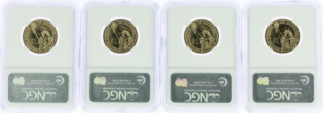 Lot of (4) 2007-P George Washington Presidential Dollar - 2