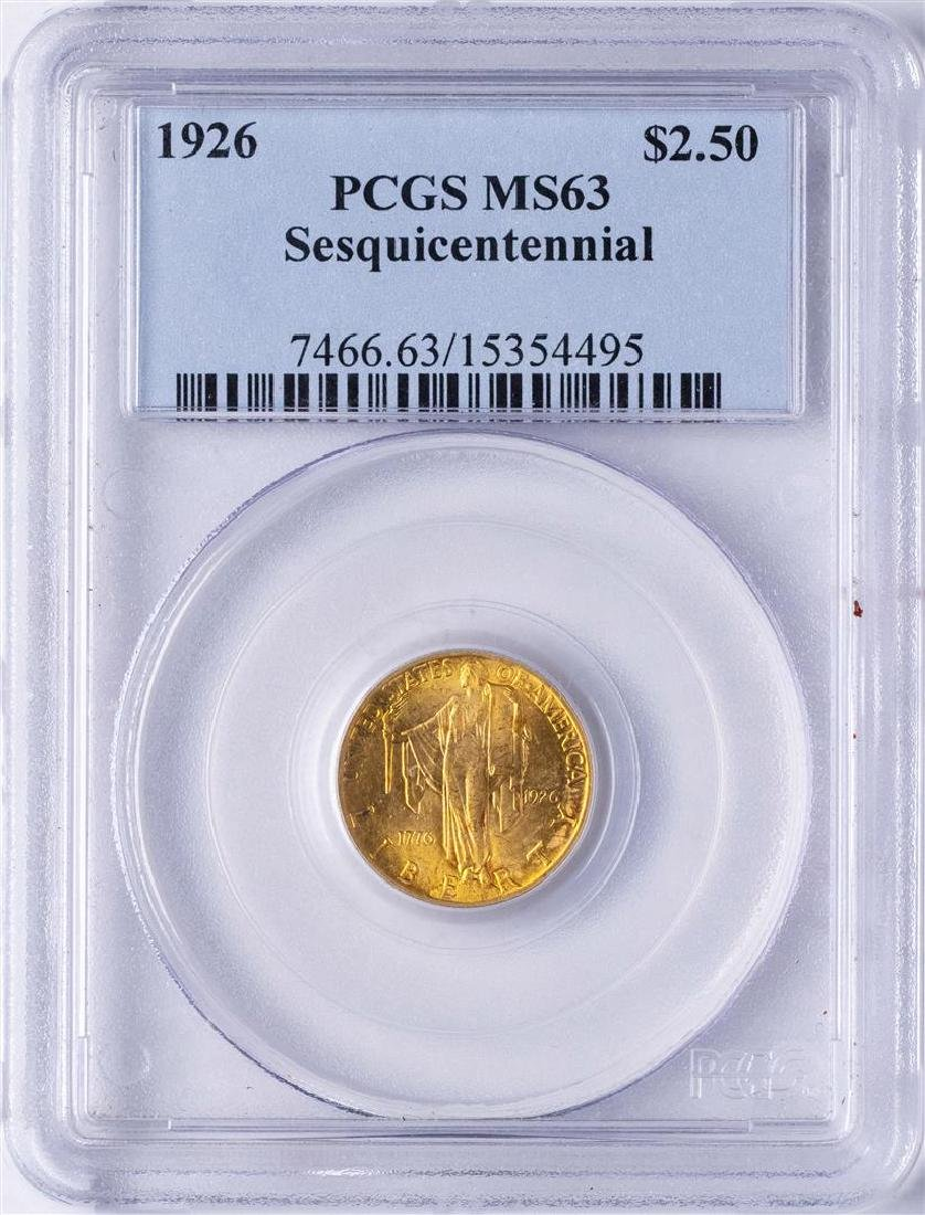 1926 $2 1/2 Sesquicentennial Commemorative Gold Coin