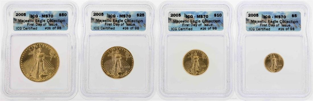 2005 American Gold Eagle Majestic Eagle Collection Set