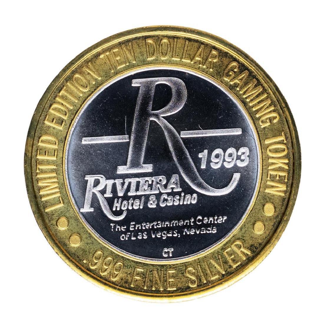 .999 Silver Riviera Hotel & Casino Las Vegas $10 Casino