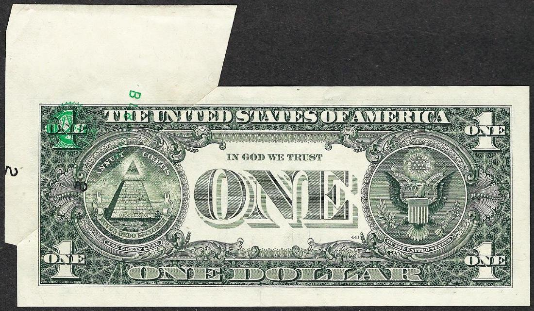 1988 $1 Federal Reserve Note Printed Fold ERROR - 3