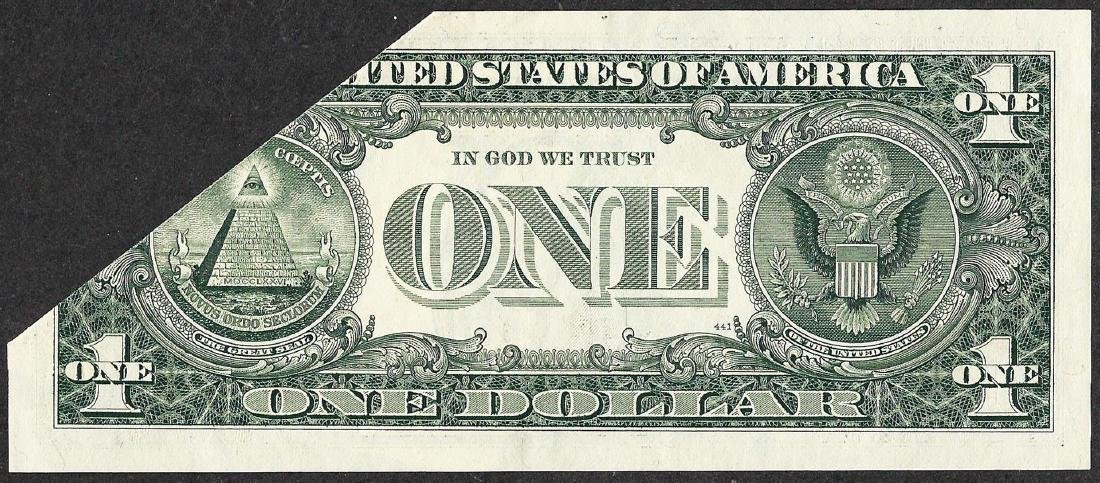 1988 $1 Federal Reserve Note Printed Fold ERROR - 4