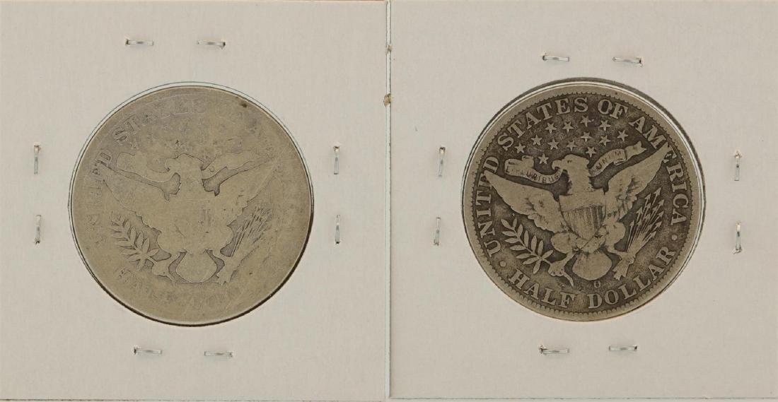 Lot of 1908-D & 1908-O Barber Half Dollar Coins - 2