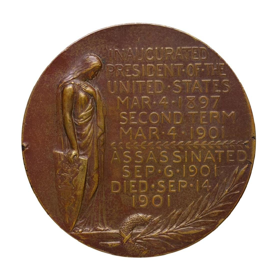 Large 1901 William McKinley Commemorative Medal - 2