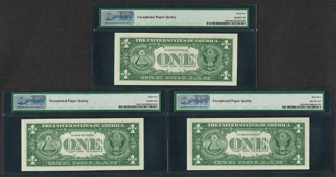 Lot of (3) Consecutive 1957 $1 Silver Certificate STAR - 2