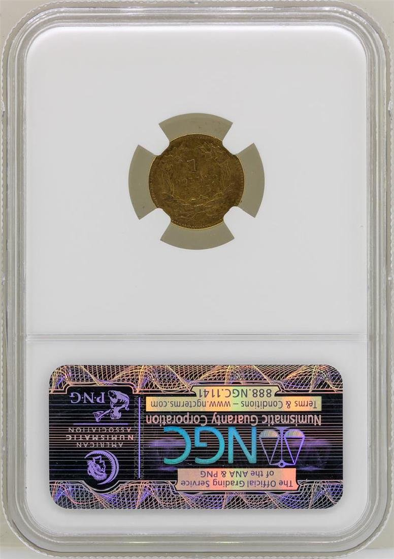 1855 $1 Indian Princess Head Gold Dollar Coin NGC XF45 - 2
