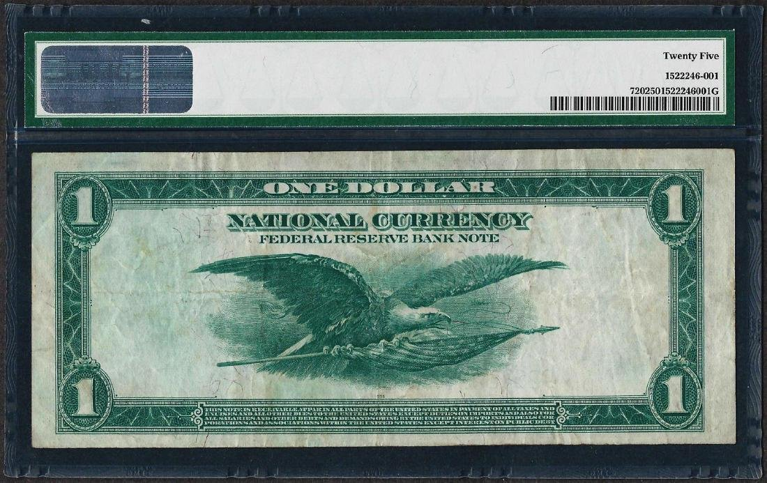 1918 $1 Federal Reserve Bank Note Cleveland Fr.720 PMG - 2