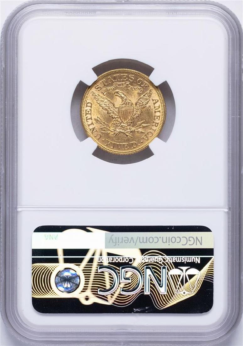 1893 $5 Liberty Head Half Eagle Gold Coin NGC MS62 - 2