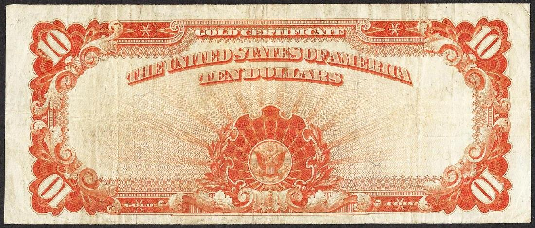 1922 $10 Gold Certificate Note - 2