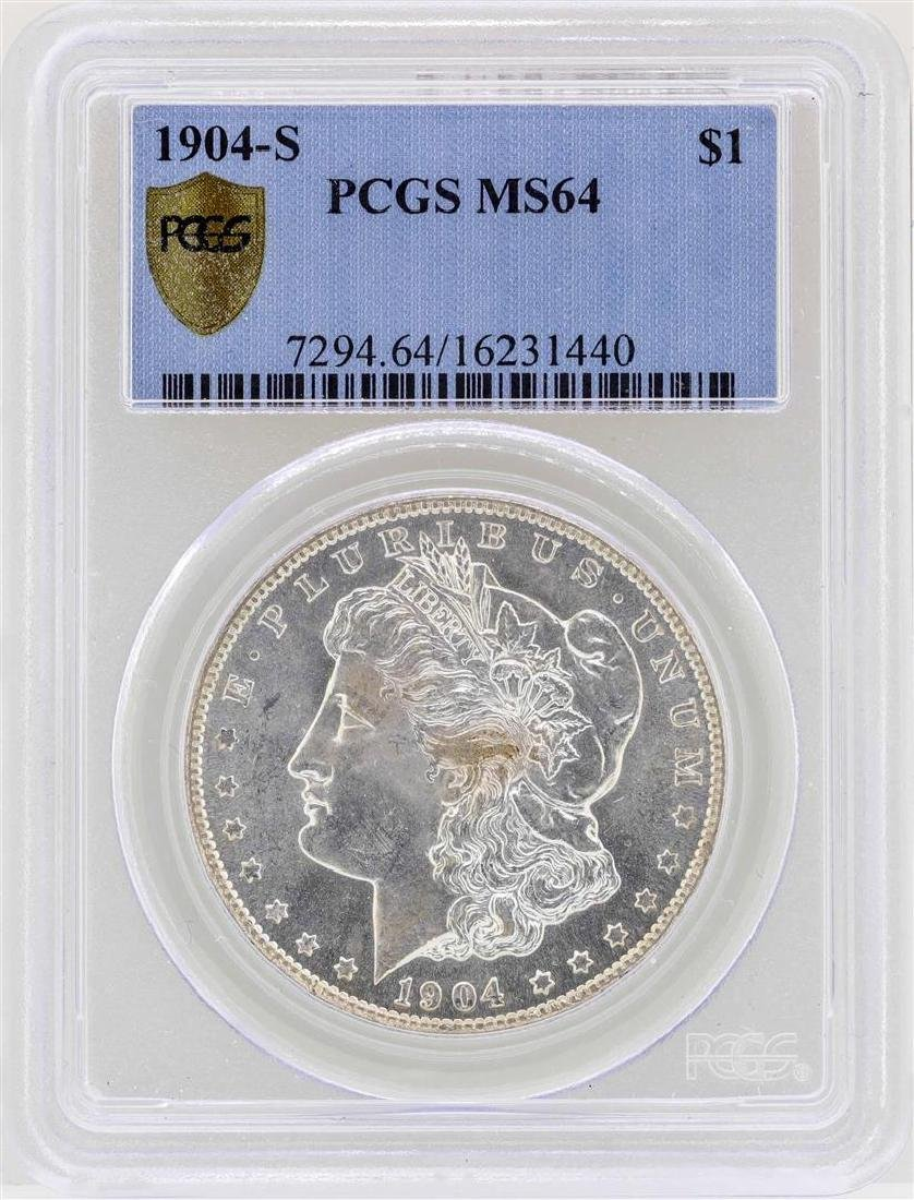 1904-S $1 Morgan Silver Dollar Coin PCGS MS64